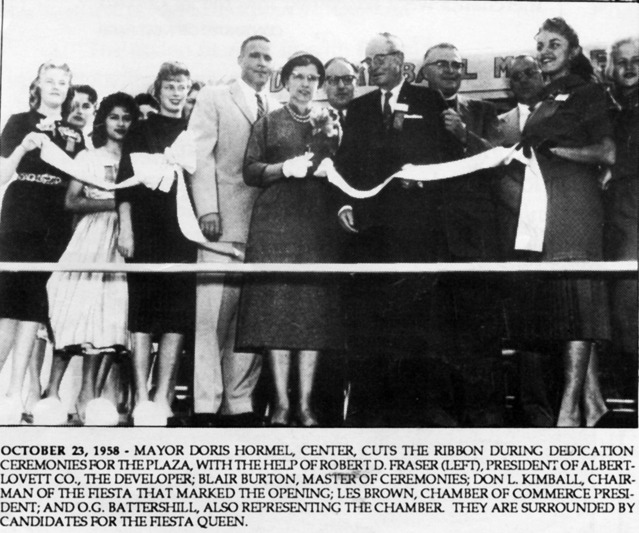 el cerrito plaza dedication 10 23 1958