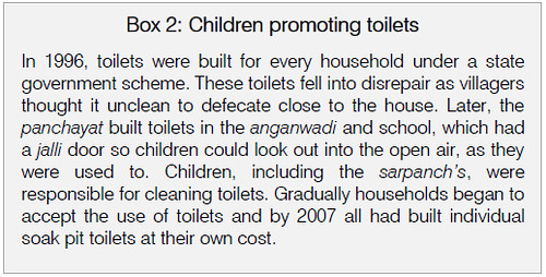 Children promoting toilets