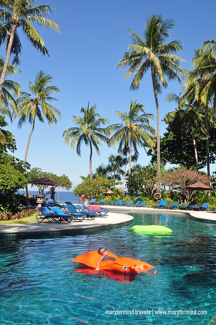 Swimming Pool Bean Bags at Holiday Resort Lombok
