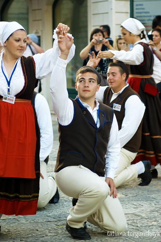 Танец хорватской группы