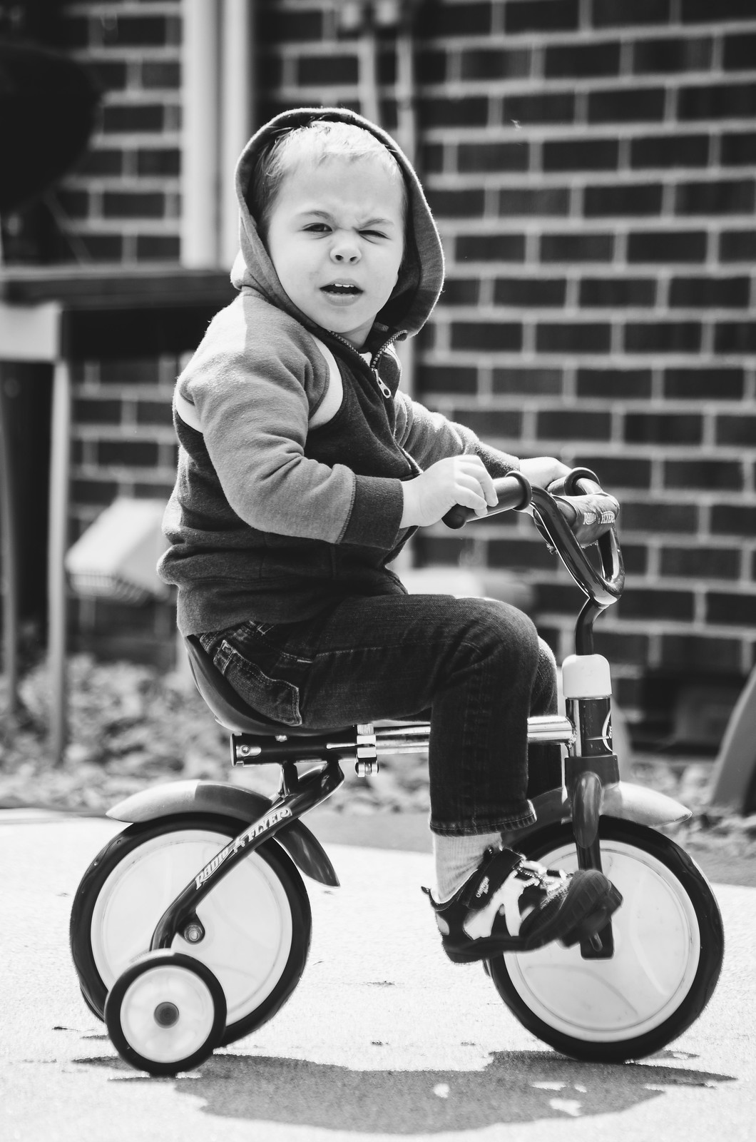 Micah on the trike