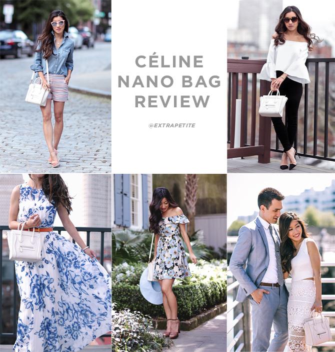 celine white luggage nano bag review_outfit ideas_extra petite blog