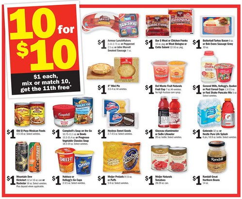 Meijer Ten for $10 with the 11th Free