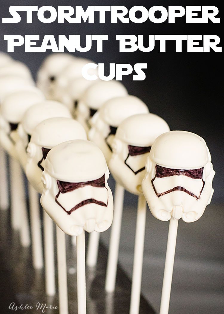 these stormtrooper peanut butter cups are perfect for a star wars party - recipe and video tutorial