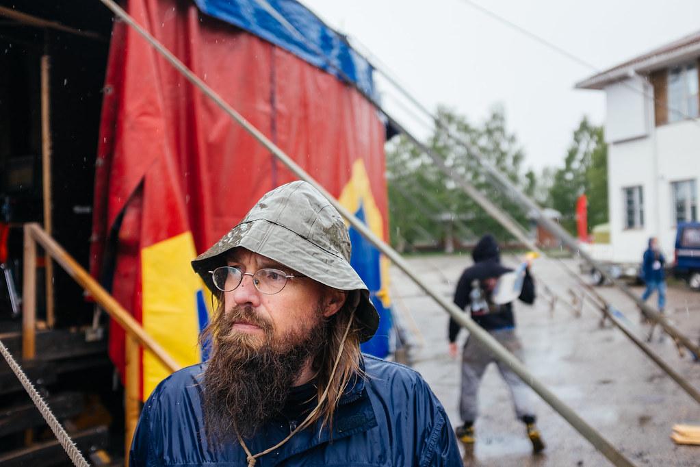 A man wearing a Sou'wester. Photo: Antti Yrjönen for Midnight Sun Film Festival 2016