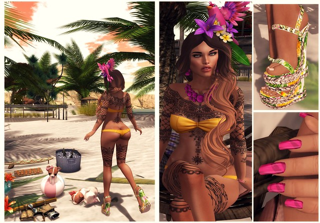 A tropical day  details Collage