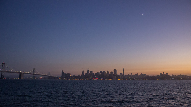 Sunset over San Francisco from Treasure Island