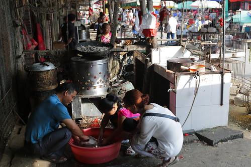 Dog meat seller