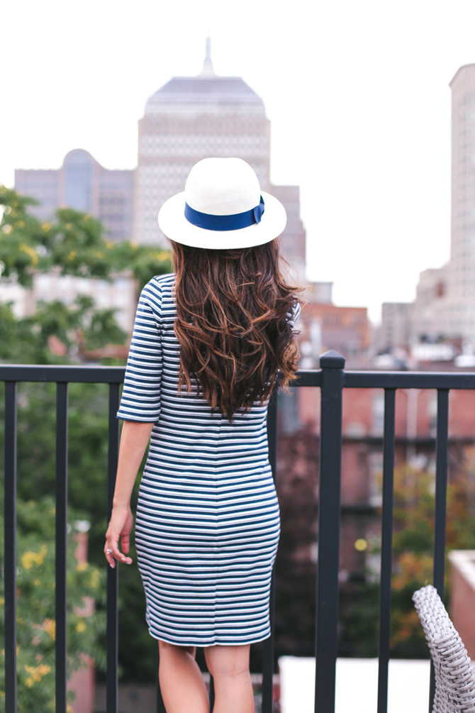 striped shift dress summer fashion_extra petite