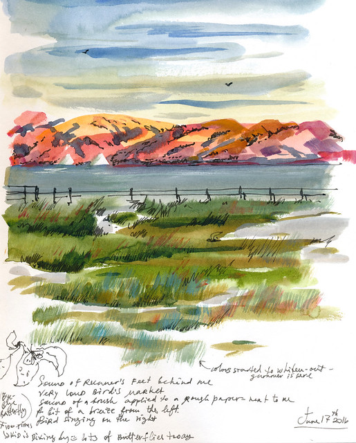 Sketchbook #98: Shoreline in Watercolor