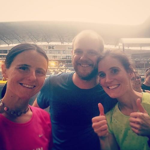 En zo kwam ik ook eens in de Ghelamco arena #eerstekeer. En leerde ik Josefien en haar man kennen. #nikefree #runnerslab #running #nike