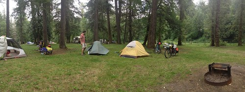 Family Bike Camping at Dodge Park