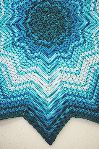 Crochet: Study in Blue, edge