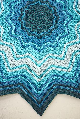Crochet: Study in Blue, edge