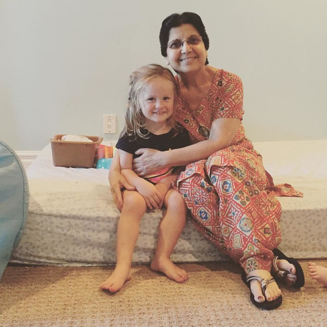 #100daysofsummer to Maggie's last day with her wonderful caregiver, Anoop. She's been going to Anoop's once a week, since she was 9 months old. We're going to miss her! #timeforpreschool