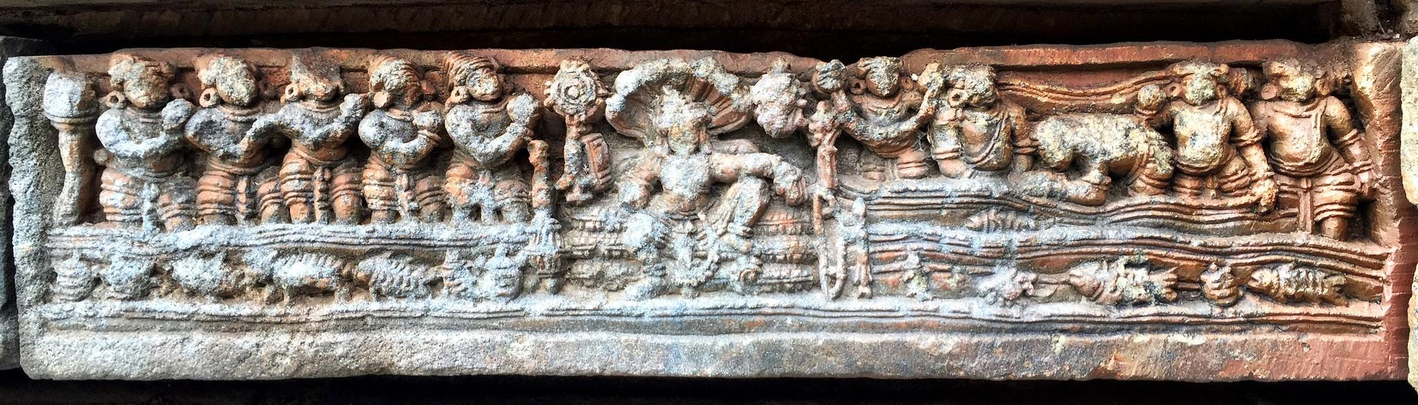 Vishnu chilling in Vaikuntha