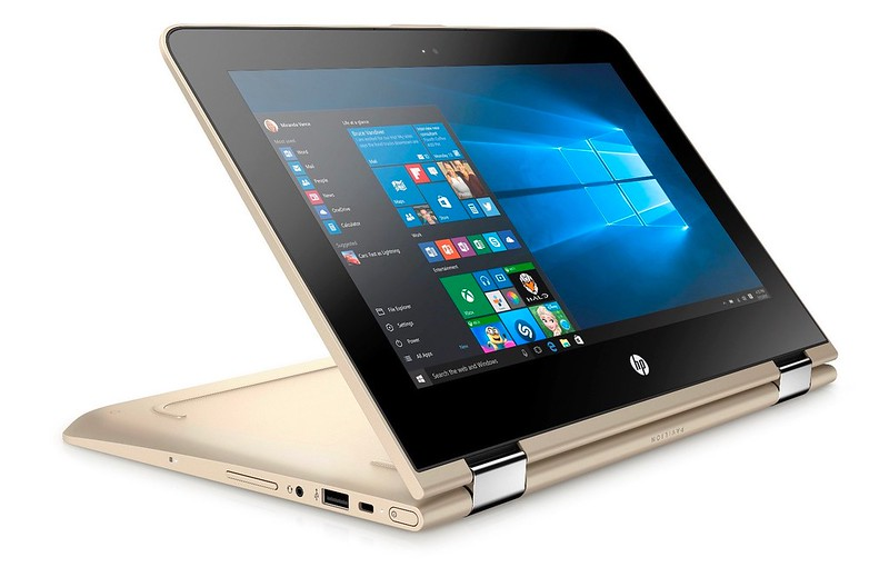 HP Pavilion x360 - Modern Gold - stand mode