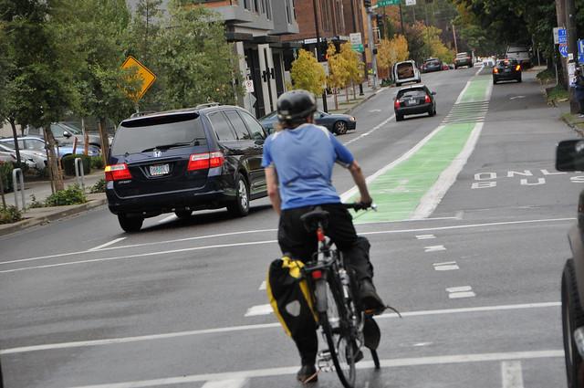 Bikeway on N Vancouver b-w Fremont and Cook-1.jpg