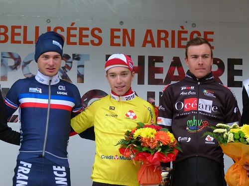 Léo VINCENT (Équipe de France espoirs), Bjorg LAMBRECHT (Team Lotto Soudal), Matthias LE TURNIER (Océane Top 16)