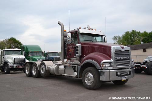 Scratch Built Tri Axle Semi Tractor Truck : Mack titan td tri axle tractor trucks buses