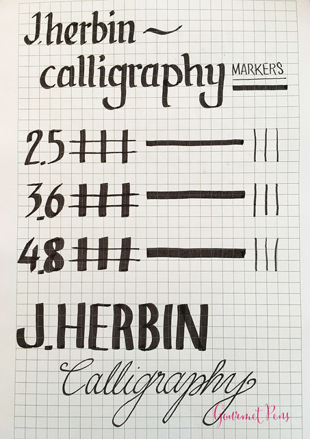 Review J. Herbin Calligraphy Markers @BureauDirect 1