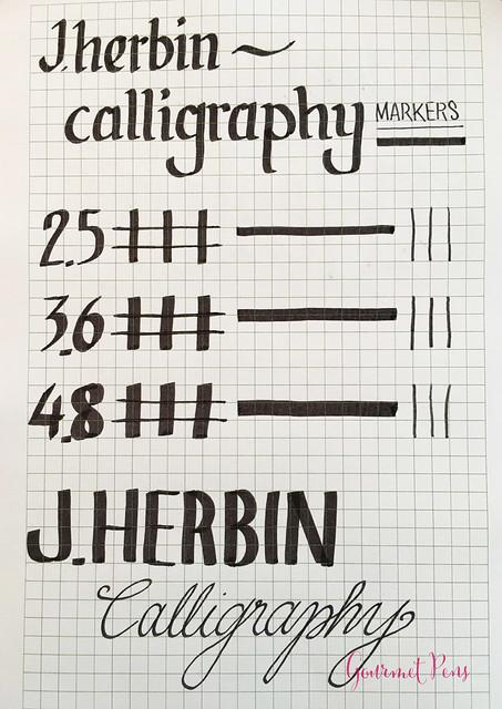 Review J. Herbin Calligraphy Markers @BureauDirect 1