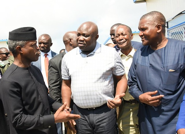 Nigeria Veep, Lagos Governor visit Dangote Refinery