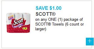 Wowza! High value Scott coupon alert! Hurry on over here to register for the Scott Shared Values Rewards program. Just for doing so, you'll be able to access and print a super high value $ off select Scott brand products (Scott paper towels 6 ct+ or bathroom tissue 6 ct+) coupon .