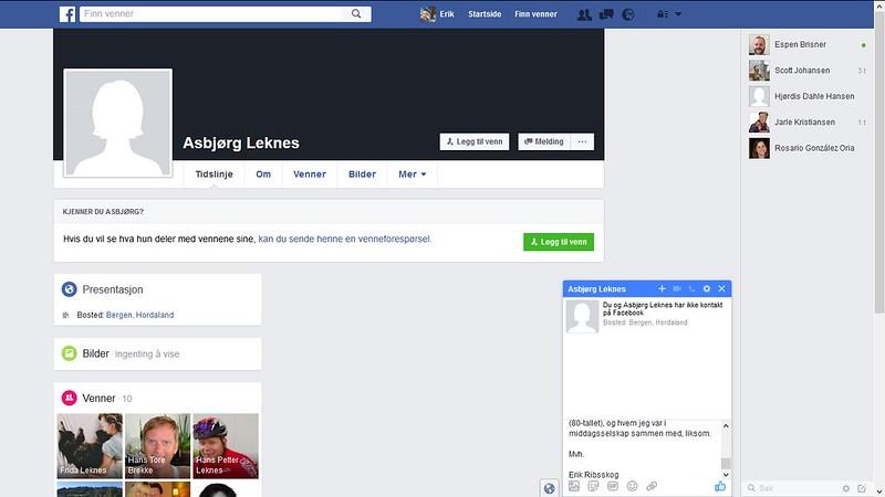 asbjørg leknes facebook