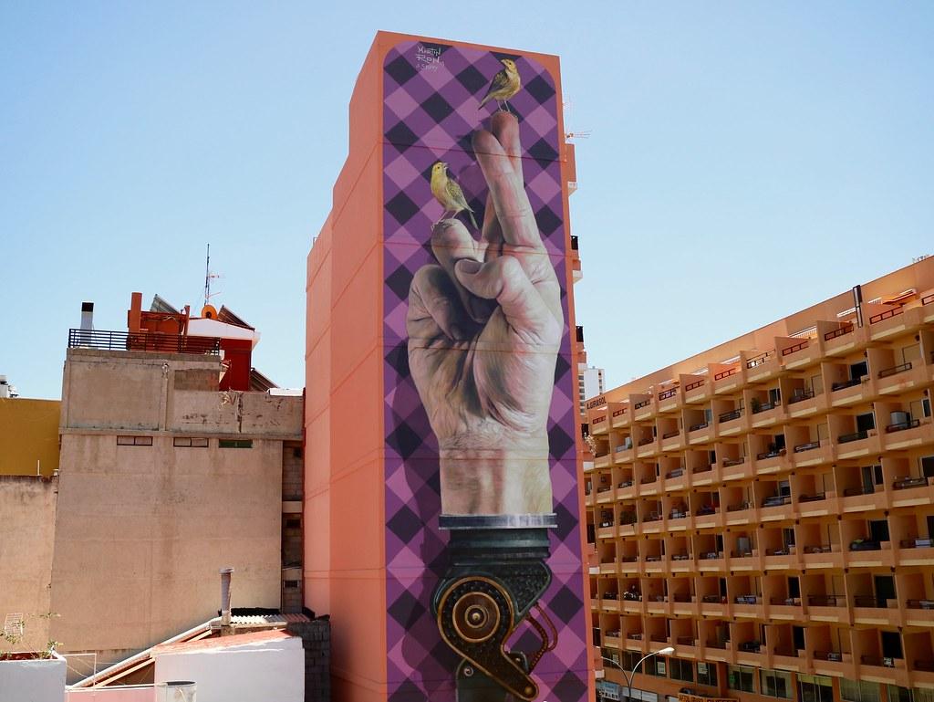 Preciosos murales en Puerto de la Cruz