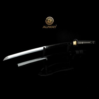 Auway-samurai-sword-Octagon-Tsuba-Black-scabbard-2