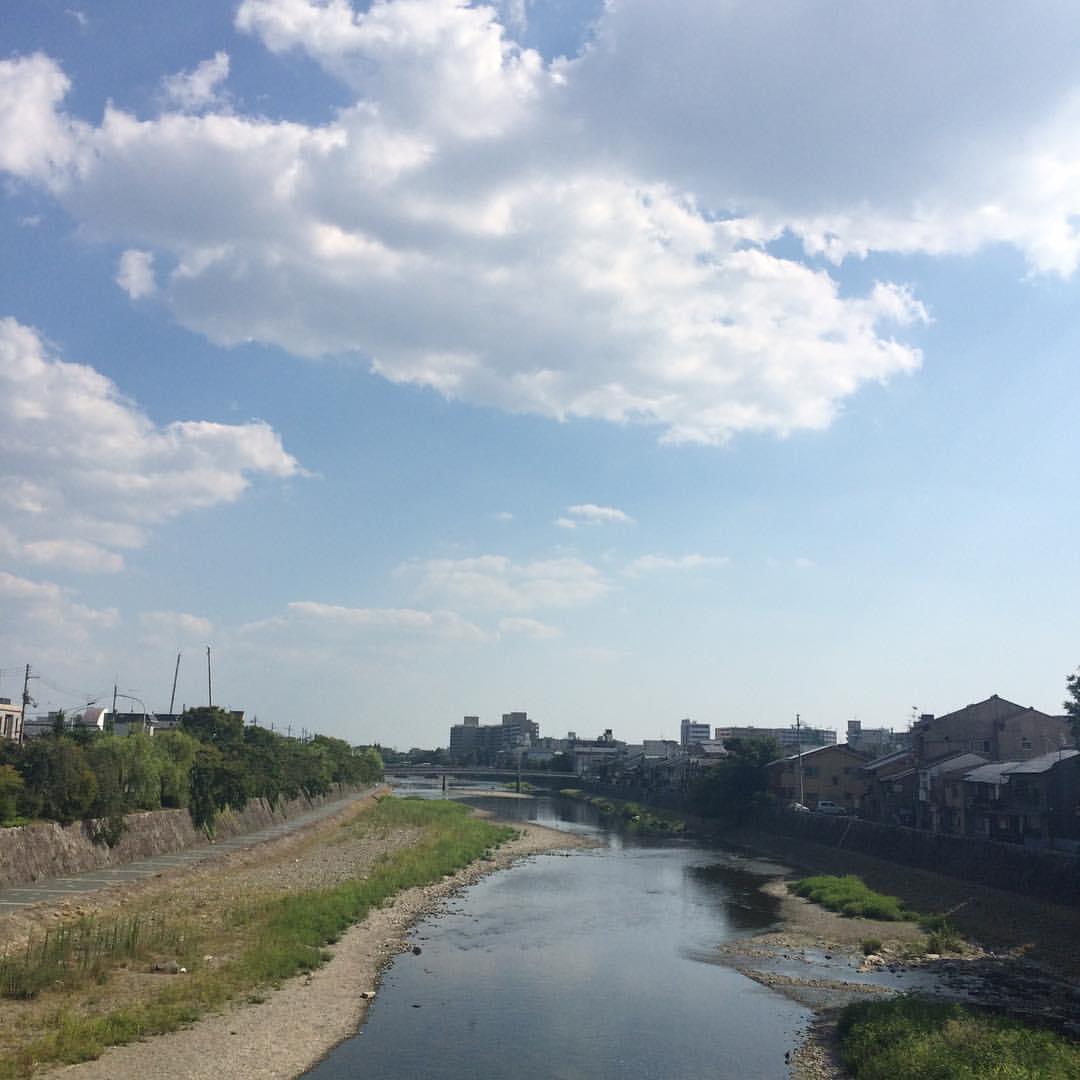 夏だなあ #今日の鴨川 #kyokamo #sky #イマソラ
