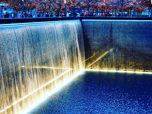 The return of life always begins with the rush of water. #worldtradecenter #911memorial