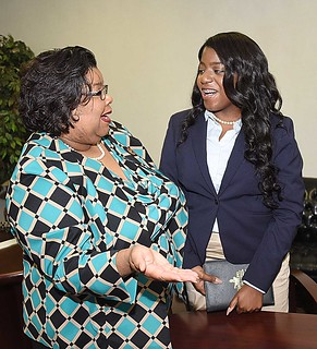 Ellen Smiley, Provost & VP of Academic Affairs, and Endiah Green