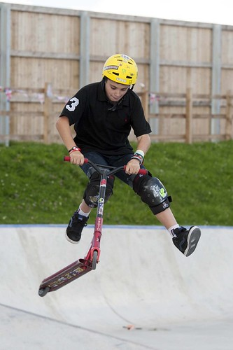 Jack Deevey, 14, performs a double whip at the Fun of the Fair event at OurPlace | by Knowsley Council