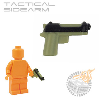 Tactical Sidearm - Olive Green | by BrickForge