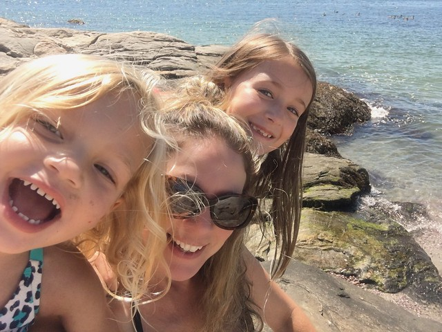 Beach day with my girls.