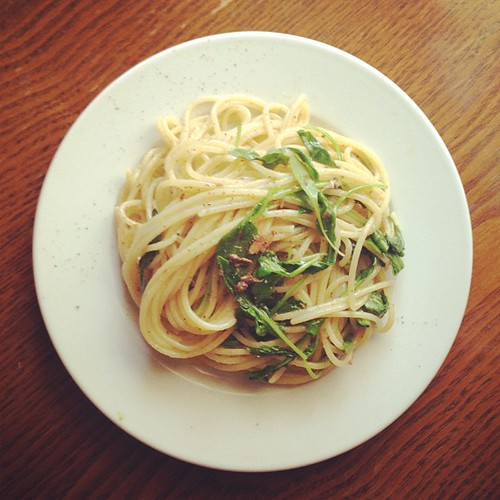 Ten Minute Lunch: Pasta With Anchovies and Arugula | by PrincessPeach