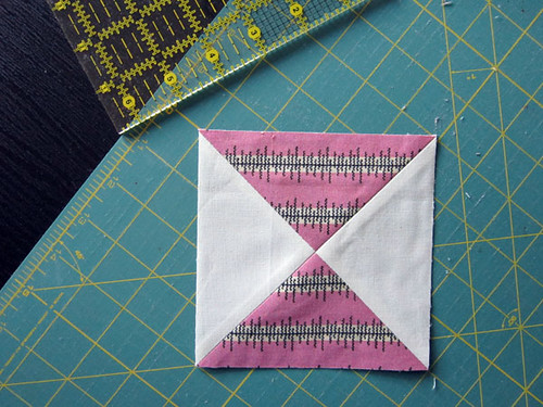 Hourglass block tutorial | by StitchedInColor