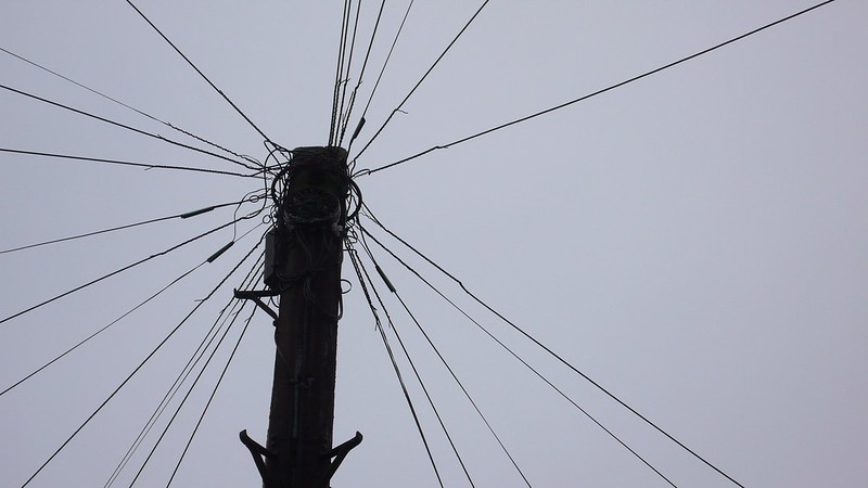 Telephone wires in Grenfell Avenue