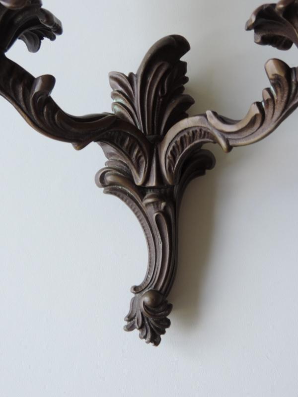 alte wandlampe wandleuchte bronze 2 flammig ebay. Black Bedroom Furniture Sets. Home Design Ideas