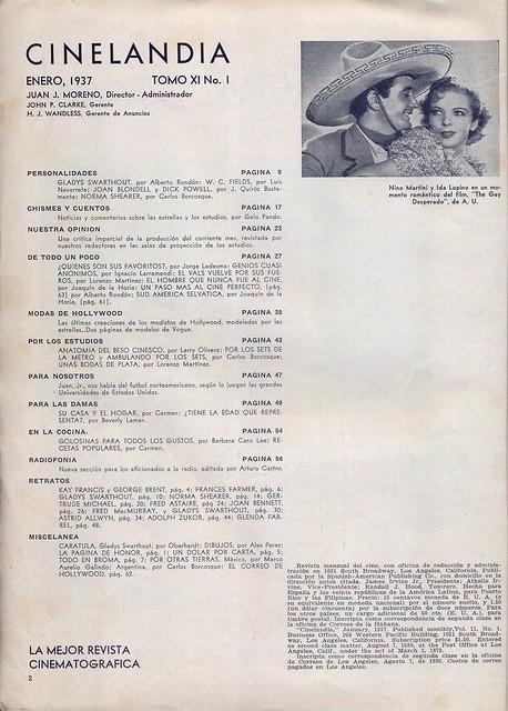 Cinelandia, Tomo XI Nº 1, Janeiro 1937 - 3