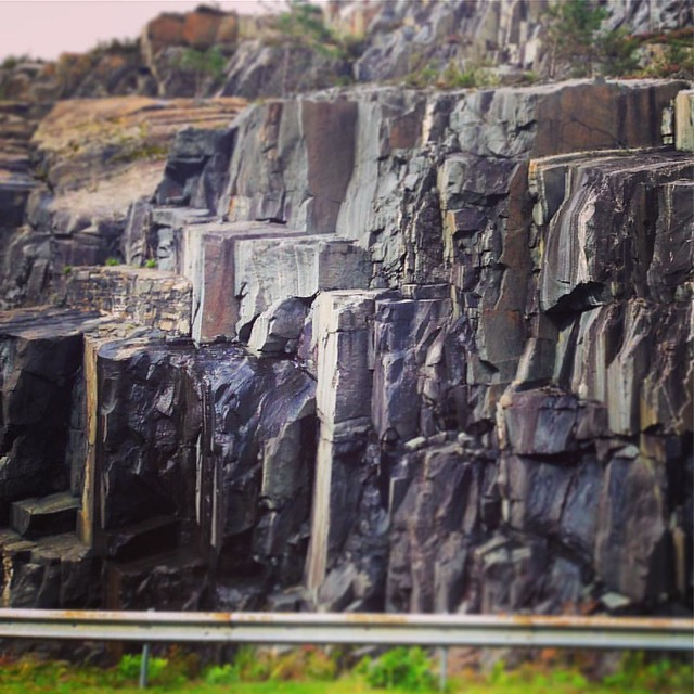 Rock face near Loch Ailort, Sound of Arisaig, Scottish Highlands.  #scottishhighlands #scottishscenery #scotland #lochailort #rock #rockface #texture #lochnanuamhviaduct