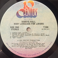 BOBBYE HALL:BODY LANGUAGE FOR LOVERS(LABEL SIDE-A)