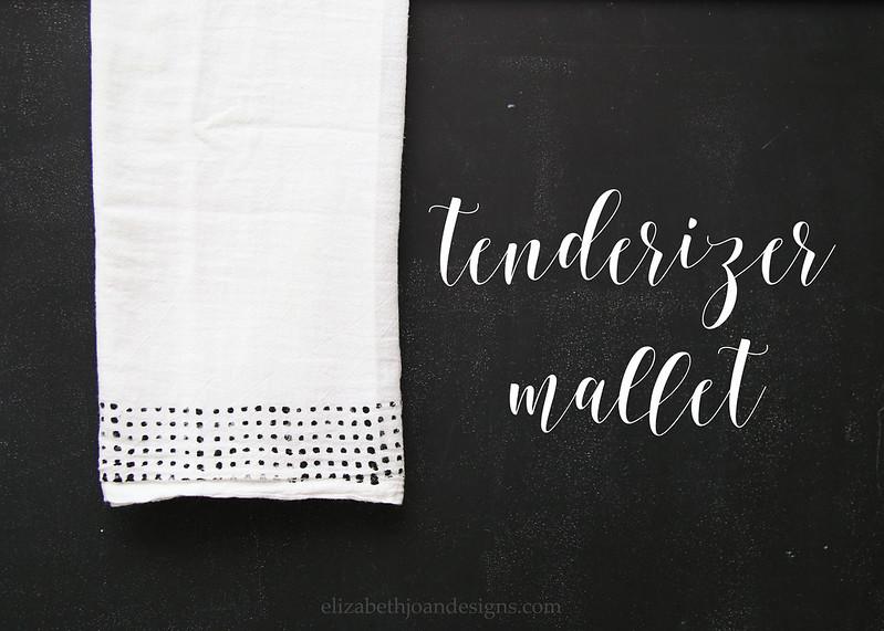 Tenderizer Mallet Stamped Towel