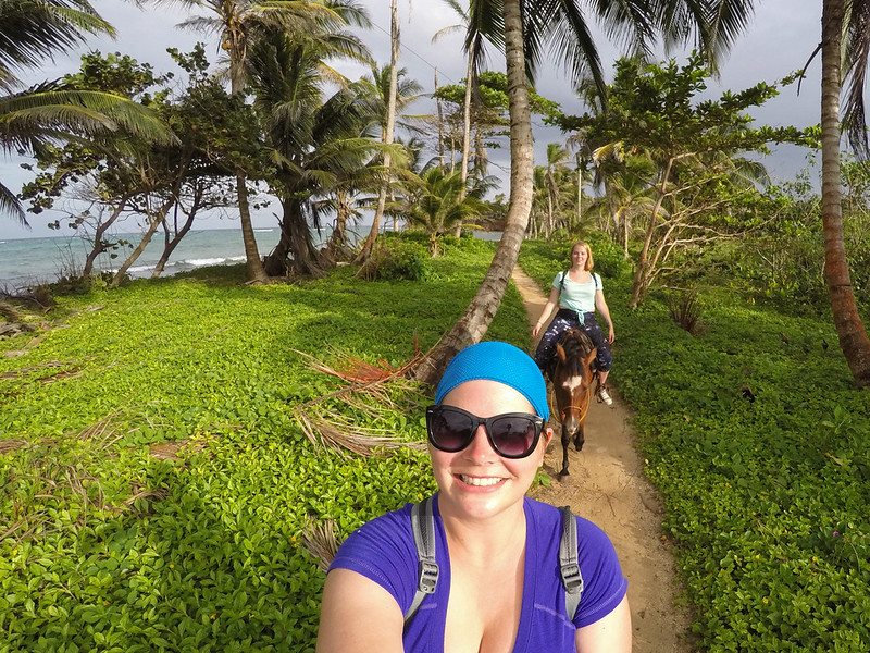 Horseback riding on Little Corn Island