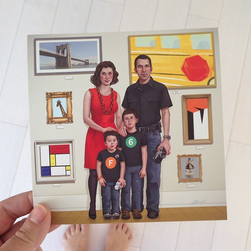 My friends Lori and Matthew Richmond sent a holiday card with a painted family portrait! Supercool! | by swissmiss