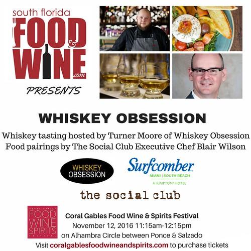 South Florida Food and Wine Whiskey Seminar