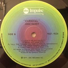 JOHN HANDY:CARNIVAL(LABEL SIDE-B)