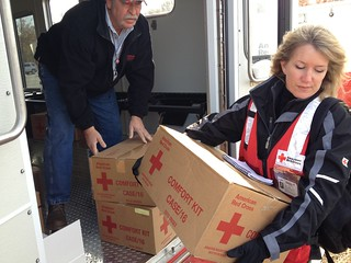 Staten Island Catherine Barde carries comfort kits 11-5 | by American Red Cross
